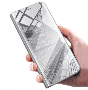 Etui Smart Clear View Samsung  A41 srebrny